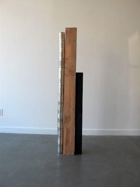 Uncanny Sculpture, 2017, wood, spray paint, cans