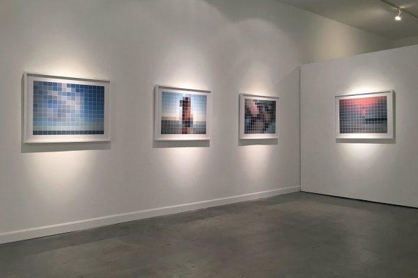 Installation view Stavros at His Bath (2016) by Chris Komater. Digital C-prints, 30 x 38 each