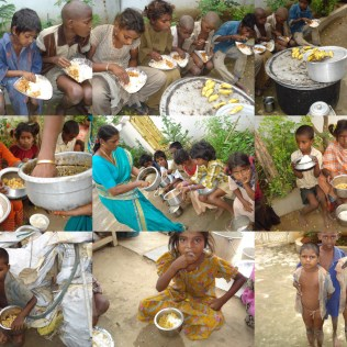 Feeding the Street Children.