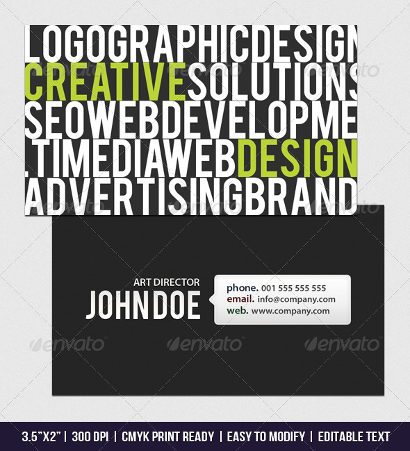 Top Five Business Card Design Templates for Creatives