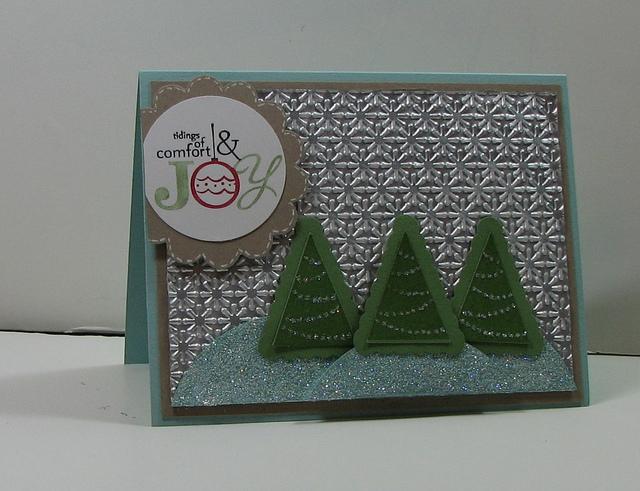 Comfort and joy tassimo card