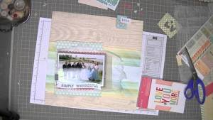 Scrapbooking Process: Wedding Party