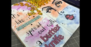 Art Journal Process: Jane Davenport Face Stamp