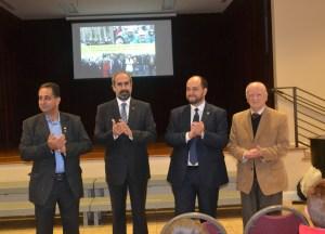L to R: Mr. John Shirajian, Rev. Serop Megerditchian, Mr. Arayik Harutyunyan and Dr. Vahe Nalbandian, Chairman of the Merdinian School Board