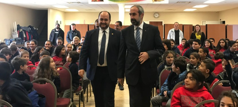 "Merdinian School Welcomes ""DUKHOV"" Mr. Arayik Harutyunyan, Minister of Education and Science of RA"