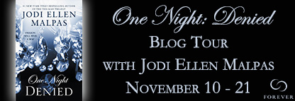 One Night: Denied by Jodi Ellen Malpas (It's MILLER TIME!)