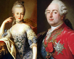 Marie Antoinette and Louis XIV