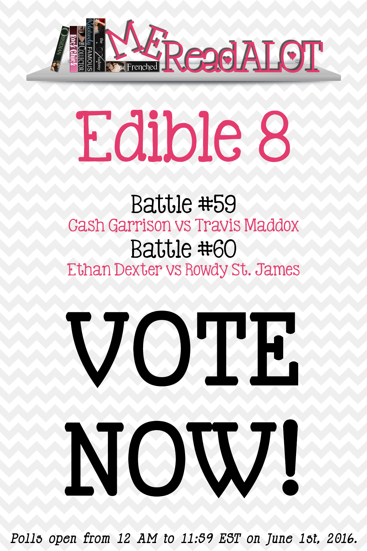 Book Boyfriend Battles – Edible 8 – #NABookBoyfriends