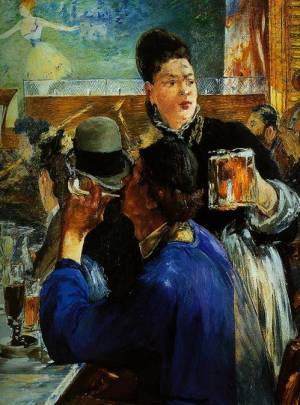 Edouard Manet Cafe Painting