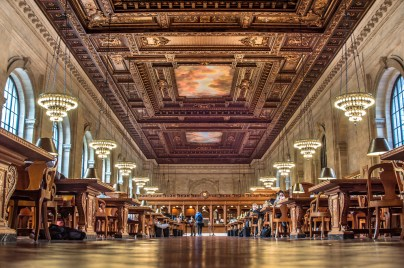 A lovely indoor shot of the NYPL.