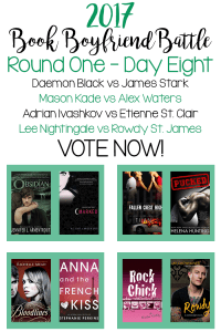 Book Boyfriend Battle – Round One – Day Eight