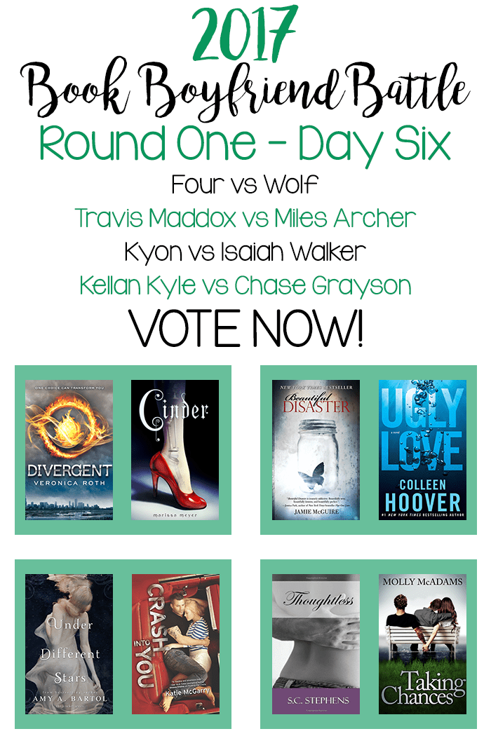 Book Boyfriend Battle – Round One – Day Six