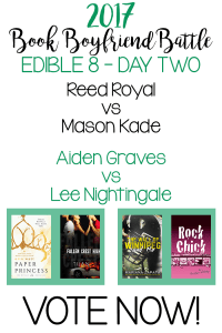 Book Boyfriend Battle – Edible 8 – Day Two – VOTE NOW!