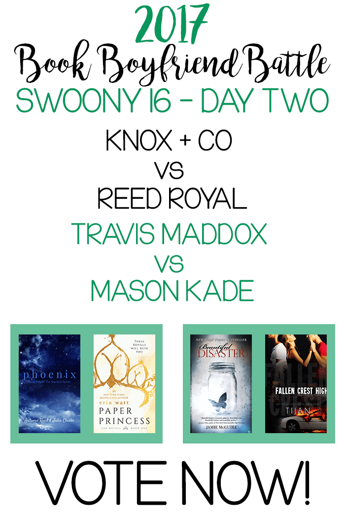 Book Boyfriend Battle – SWOONY 16 – Day Two