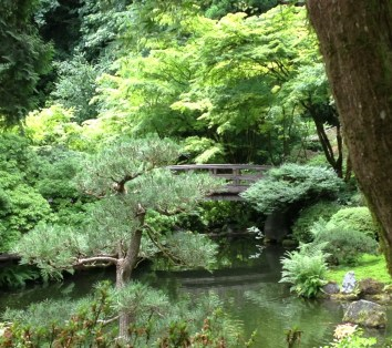 Feeling zen in the Japanese Garden in Portland, OR