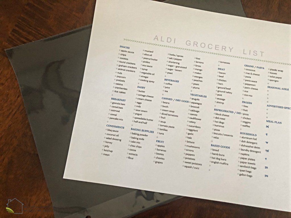 My reusable Aldi grocery list printable - Save tons of time and money with this free Aldi list printable that you can customize just for you! MeredithAmand.com