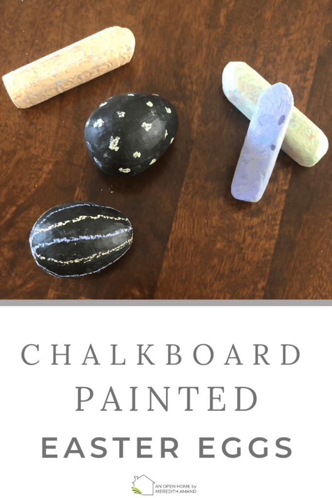 Chalkboard Painted Easter Eggs - Simple Easter craft for kids and adults! | MeredithAmand.com
