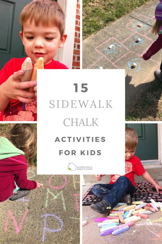 15 Sidewalk Chalk Activities for Kids - Learning and exercise sidewalk chalk games for toddlers, preschoolers and older children | MeredithAmand.com
