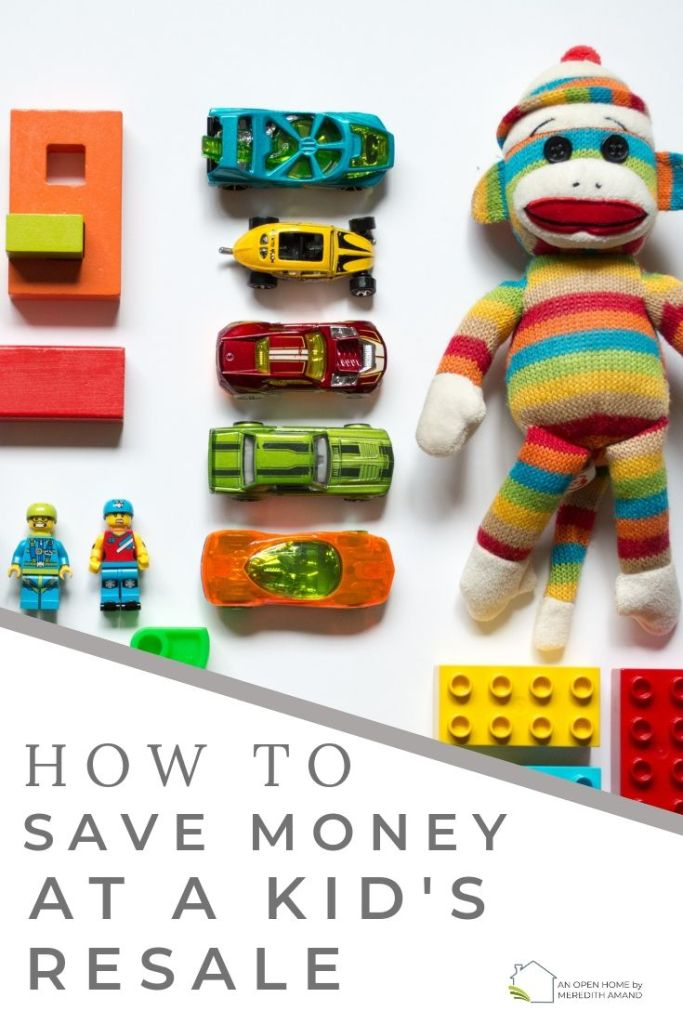 How to save money at a kid's resale event - 12 tips for shopping at a consignment sale | MeredithAmand.com