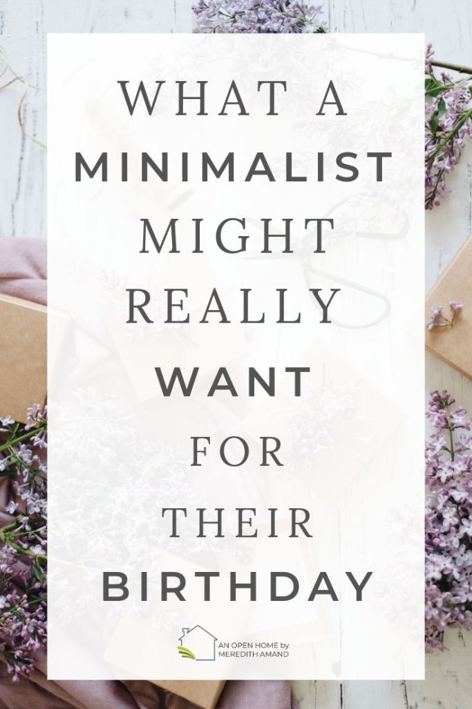 Birthday gifts for a minimalist - No clutter gift ideas for the minimalist in your life | MeredithAmand.com