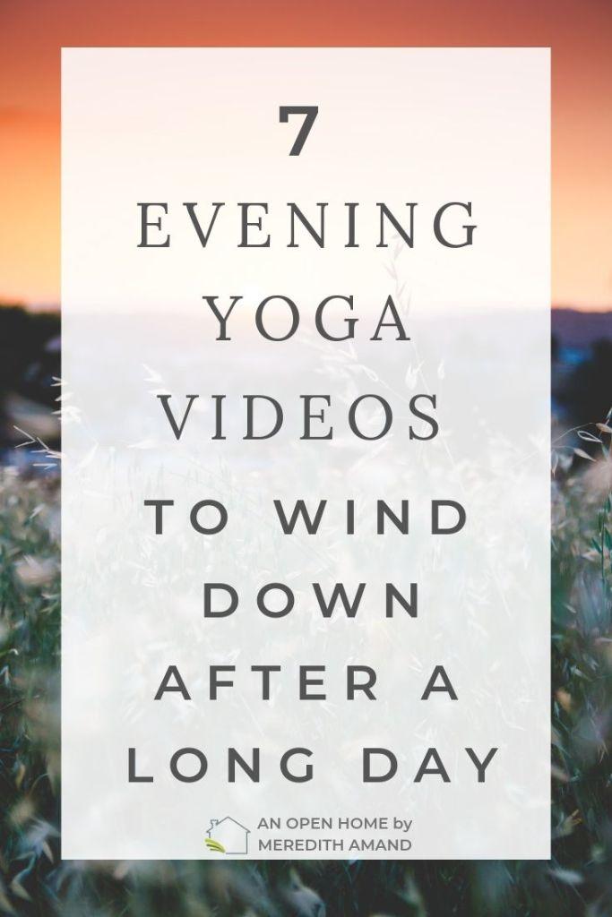 Evening Yoga Videos