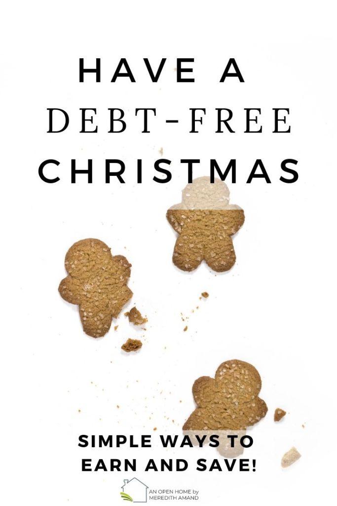 image of gingerbread men debt free christmas ideas