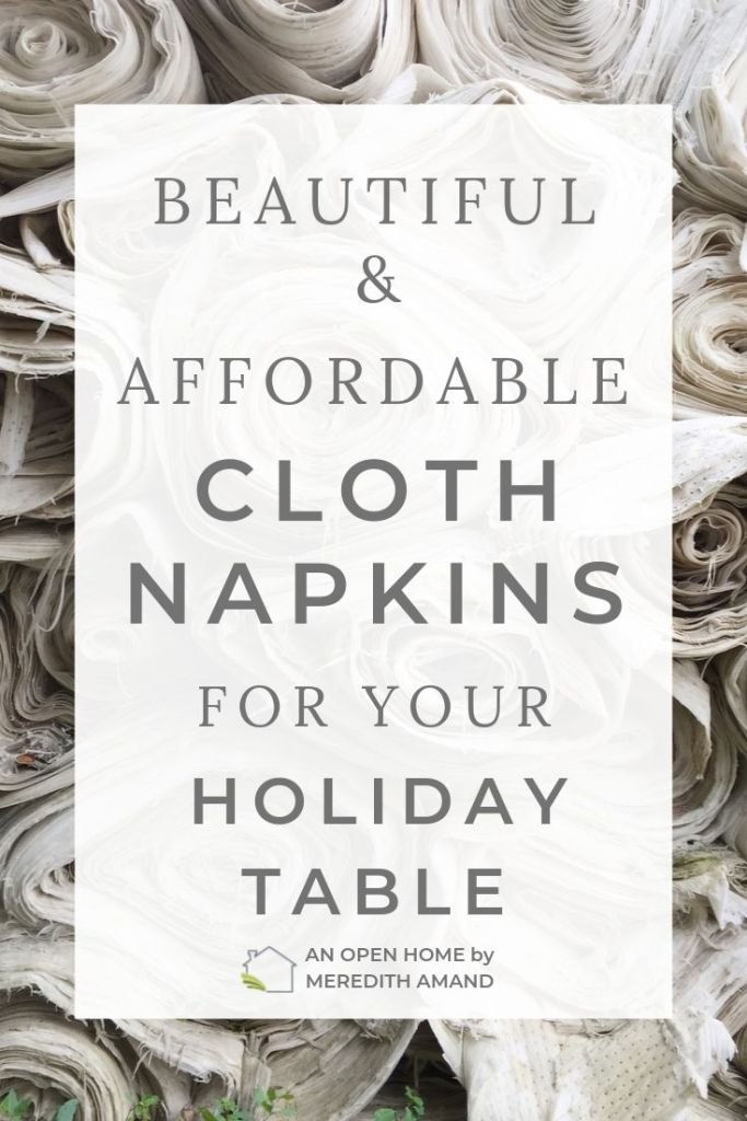 Cloth Napkins for the Holidays