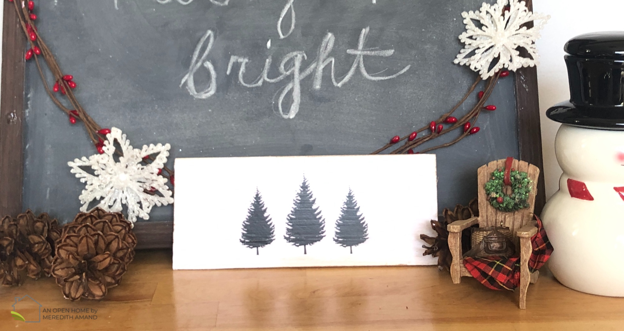 Last-Minute Rustic Christmas Sign