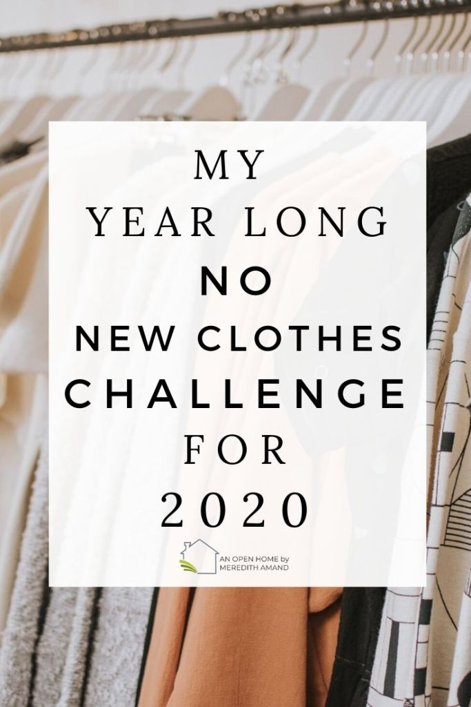 No New Clothes Challenge - Join me as I attempt to go through the entire year without purchasing any brand new clothes! | MeredithAmand.com