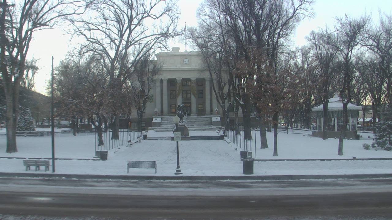 Snow on the ground in Prescott on Tuesday morning (Source: KPHO/KTVK)