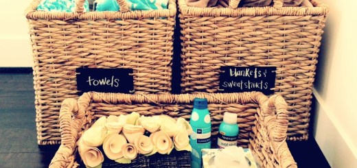 chalkboard baskets