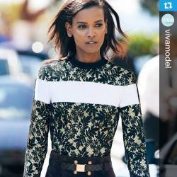 Ethiopian supermodel Liya Kebede for Madame Figaro shot by Benoit Peverelli and styled by Cecile ...