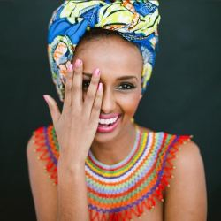 Mahlet Seifu, Ethiopian model, designer, stylist, and entrepreneur based in Canada