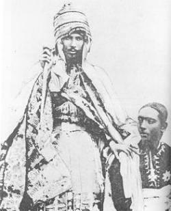 Emperor Yohannes IV, emperor of Ethiopia (1871-89).