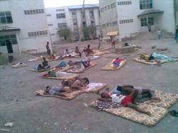 Students at Samara University in Afar Region, Ethiopia, sleep outside because their dorm rooms d ...