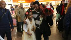 Teddy Afro arrives at Oslo Airport, Norway, 20 Dec. 2014