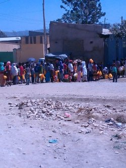 Residents of Mekele, northern Ethiopia, suffer from severe water shortage