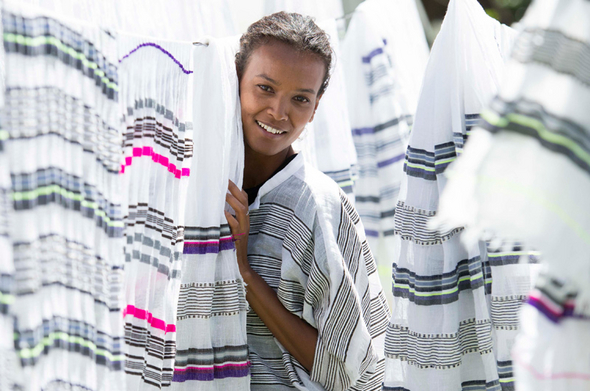 Ethiopian supermodel Liya Kebede Discusses Lemlem's New Home Goods Collaboration…
