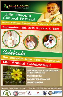 Little Ethiopia Los Angeles street festival for Enkutatash – September 13