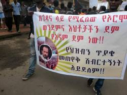 Gondar protesters express solidarity with Oromo protesters