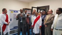 U.S. Ambassador Mike and Ato Gedu Andargachew inaugurated Ethiopia's first regional public healt ...