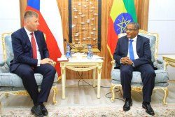 Ethiopian Foreign Minister Gedu Andargachew meeting with Czech Republic Foreign Affairs Minister ...