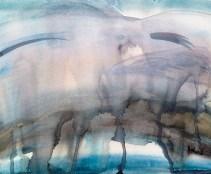 journaling sky in watercolor   17x12