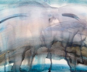 journaling sky in watercolor | 17x12