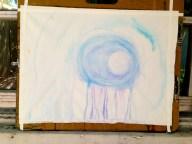 WIP | watercolor in progress | canvas | 30x20