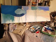 Cloudy acrylic panoramic canvas ~ work in progress II