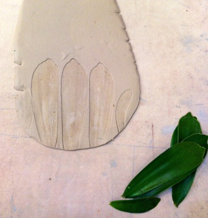 ceramics meredith clements nature clay pottery leaf