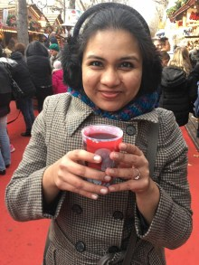 Trying vin chaud. Quite the kashayam!