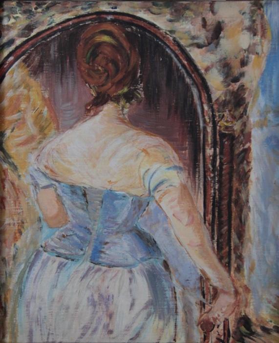 Jeune femme au corset