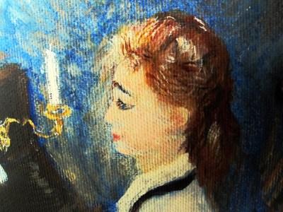 Jeune femme au piano détail